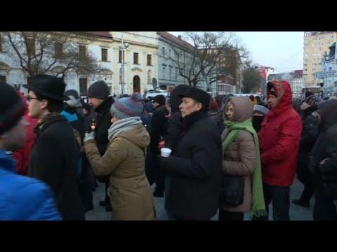 Bratislava: demonstration following murder of journalist