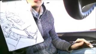 2016年チャンプル×チャンネル描き納めは…なんと車内! いつもの机を...