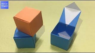 簡單摺紙盒子教學 / 如何用一張紙折疊有蓋子的盒子 創意手工折紙DIY