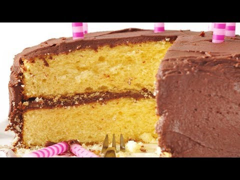 Yellow Butter Cake Recipe Demonstration Joyofbaking Com