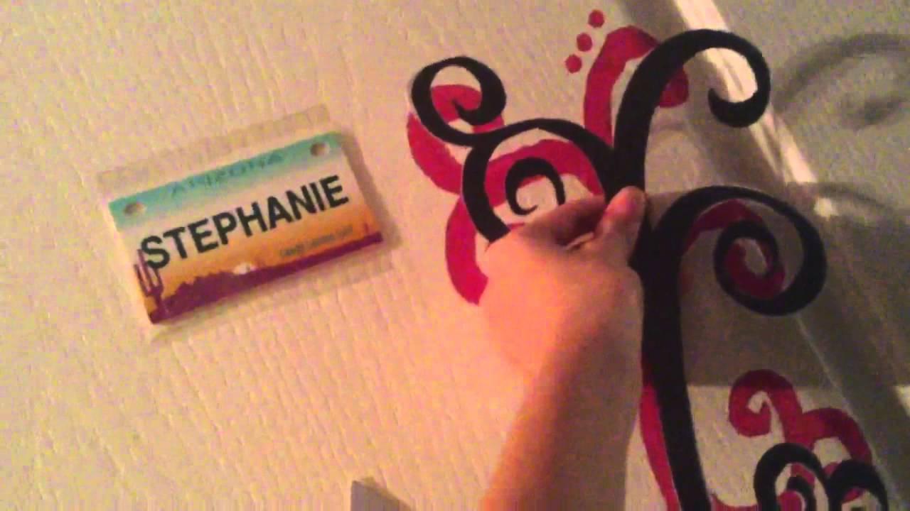 swirl door decoration diy - youtube