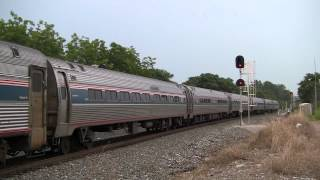 Amtrak 79 with 156, 406, Great Dome, Viewliner Diner, and More