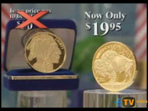 Scam Commerical - 50$ Gold Buffalo Coin