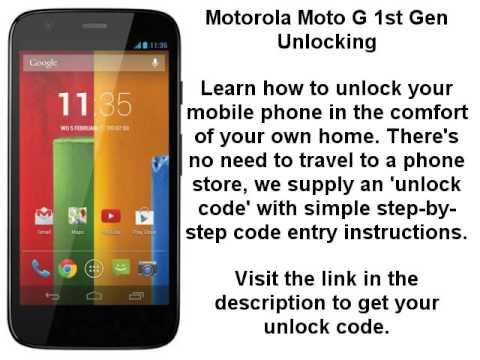Unlock Motorola Moto G 1st Gen Moto G1 Xt1032 Xt1033 Xt1039