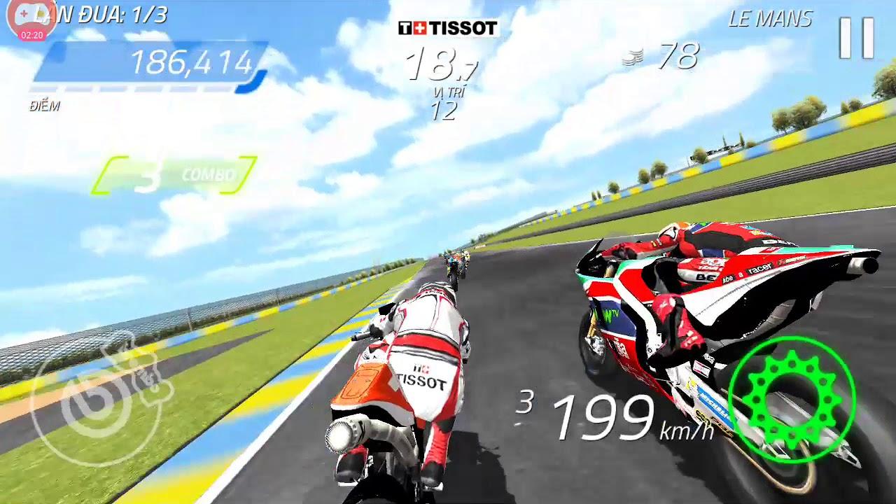 Game đua xe moto GP quá hay và thật. Chiến đi ae