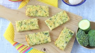 Broccoli & Courgette Frittata Fingers  Baby Weaning & Toddler Recipe