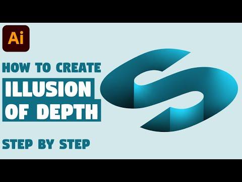 3D LOGO DESIGN | Illustrator Tutorial (Illusion of Depth) thumbnail