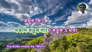 Mone Pore Sei Sob Din Karaoke with Lyrics