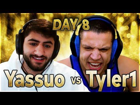 TYLER1'S HUGE BLUNDER | YASSUO VS TYLER1 - $10K BET: DAY 8