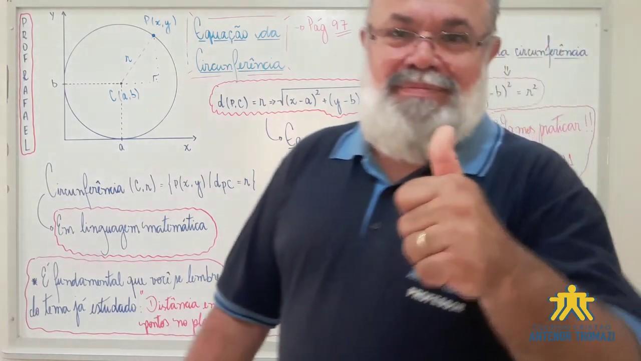 13/04 - MATEMÁTICA: Equação da circunferência