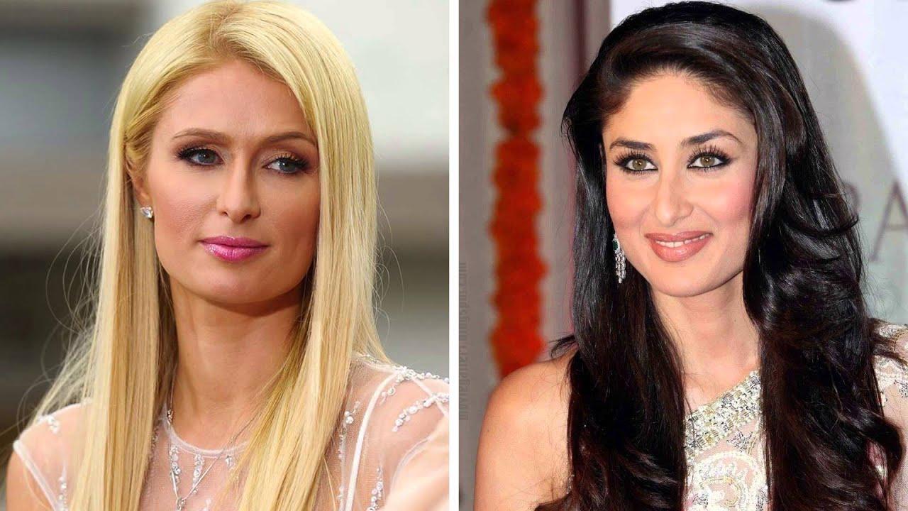 Paris Hilton and Kareena Kapoor - Do they look alike? - YouTube