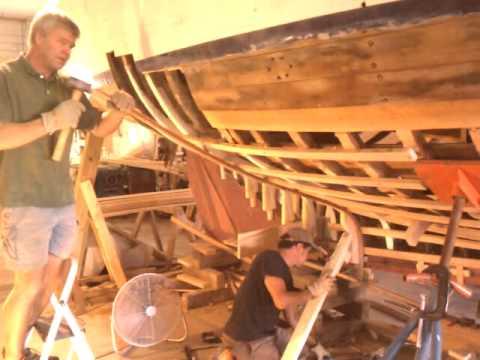 Steam bending boat frames