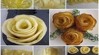Картофельные розы.