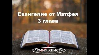 Евангелие от Матфея 3 глава  Проповедь Иоанна Крестителя  Крещение Иисуса  Новый Завет