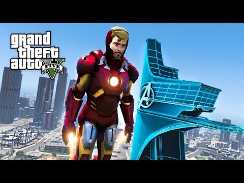 IRON MAN/TONY STARK'S AVENGERS TOWER MOD!! GTA 5 Iron Man