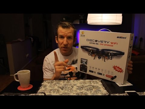 USA Toyz Discovery Wifi U818A HD FPV Upgrade Drone Quadcopter - Unboxing & Review