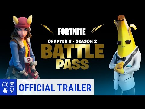 Fortnite 2 Season 2 Battle Pass Gameplay Trailer, New Skins
