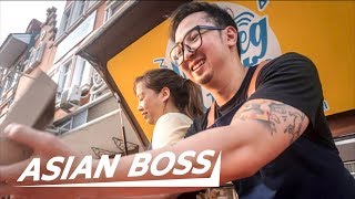 This Top Indonesian YouTuber Gives Out Free Food   ASIAN BOSS