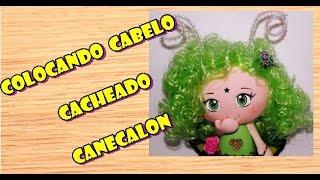 DIY BONECAS – COLOCANDO CABELOS CACHEADOS CANECALON (RIZADO PELO CANECALON)