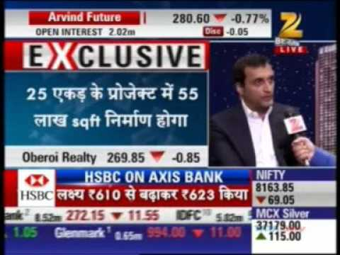 Zee Business - Mr. Vikas Oberoi - CMD, Oberoi Realty announcing the launch of Sky City