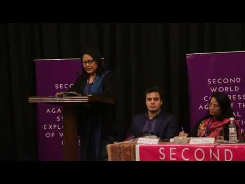 Anjali Daimari at World Congress Against Sexual Exploitation of Women & Girls