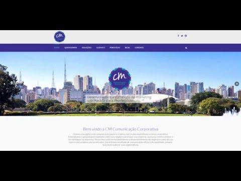 Site para a CM Comunicação