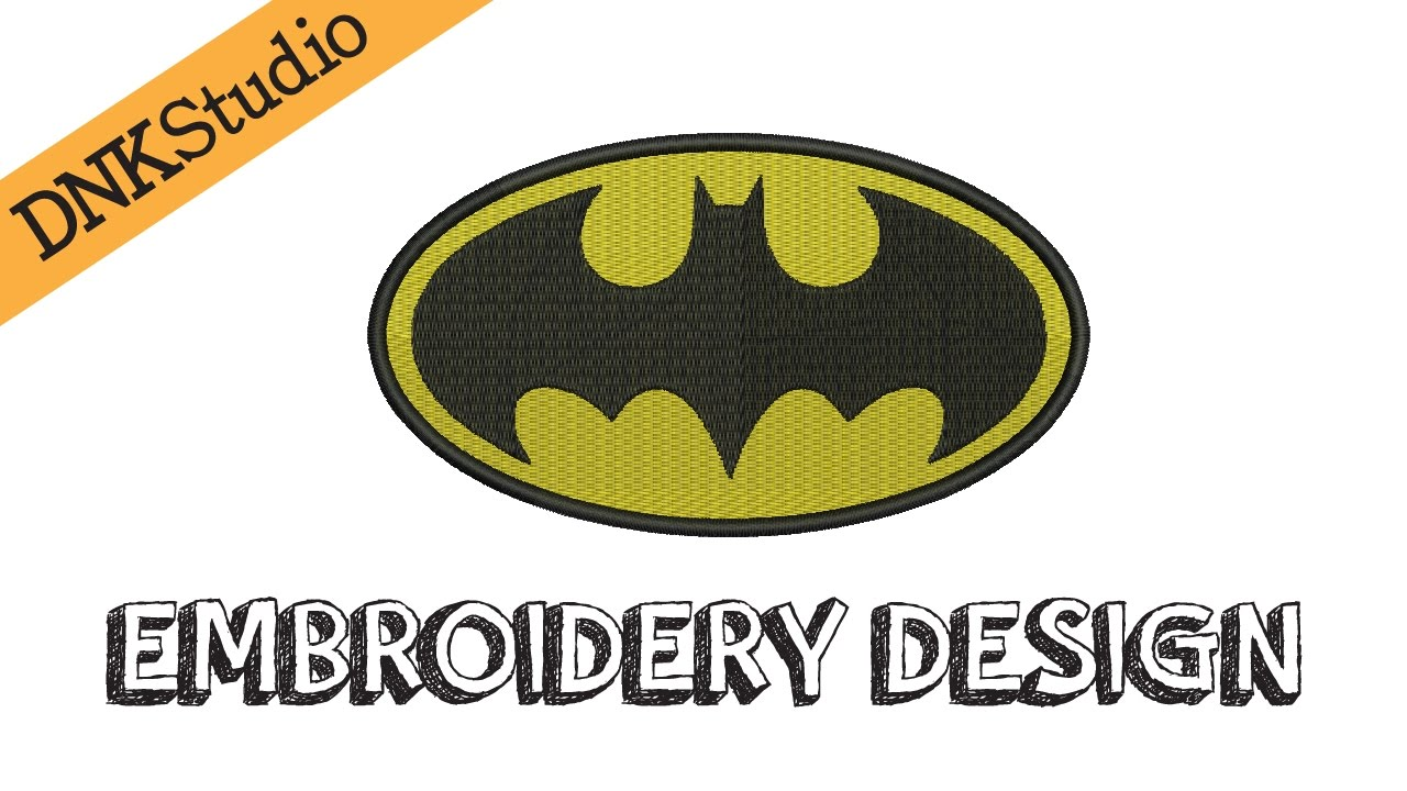 Batman symbol embroidery design youtube batman symbol embroidery design buycottarizona