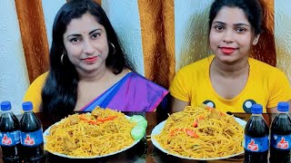Spicy Chicken Spaghetti Eating Challenge || Food Challenge India || Indian Food Eating Competition