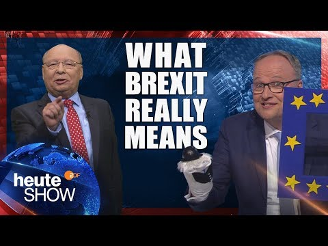 This is what Brexit REALLY means! German news satire heute show (English subtitles)