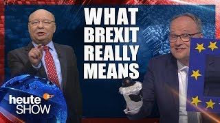 "This is what Brexit REALLY means! German news satire ""heute show"" (English subtitles)"