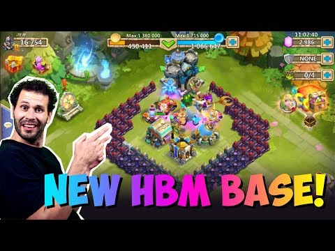 New F2P HBM Base Set Up LETS GO!! Castle Clash