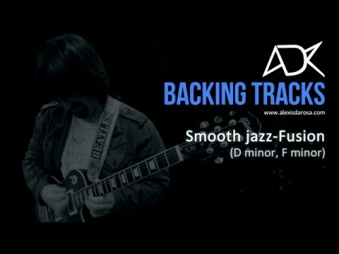Smooth jazz fusion backing track D minor/F minor