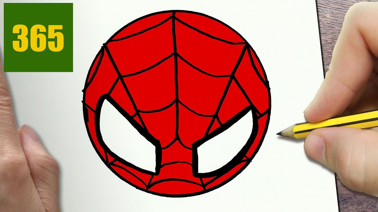 Come disegnare logo spiderman kawaii passo dopo passo for Disegni spiderman da colorare