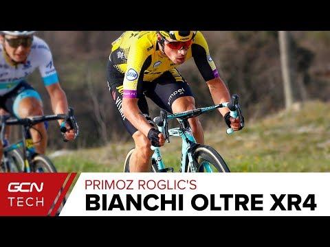 Primoz Roglic S Custom Bianchi Oltre Xr4 Team Jumbo Visma Pro Bike Youtube