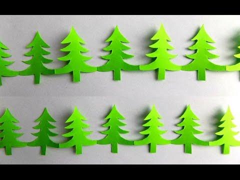 Смотреть Как сделать гирлянду  Простая гирлянда из бумаги своими руками новогодние поделки гирлянды елочки