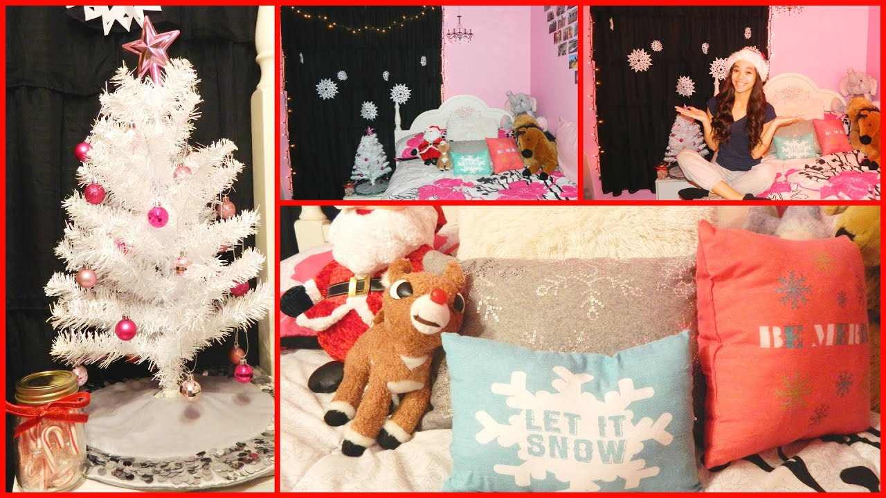 Decorate My Home For Christmas decorate my room with me for christmas+diy snowflakes! - youtube