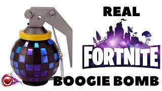 💣 Real - Fortnite Light-Up Boogie Bomb with Sound - Halloween Costume Accessoires 💣