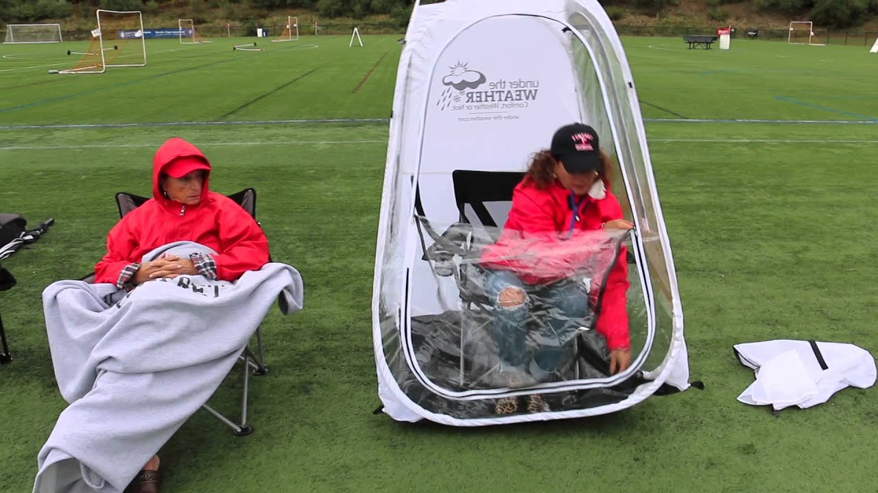 Anthem Sports Under the Weather Personal Sport Pod Pop-Up Tent - YouTube & Anthem Sports Under the Weather Personal Sport Pod Pop-Up Tent ...
