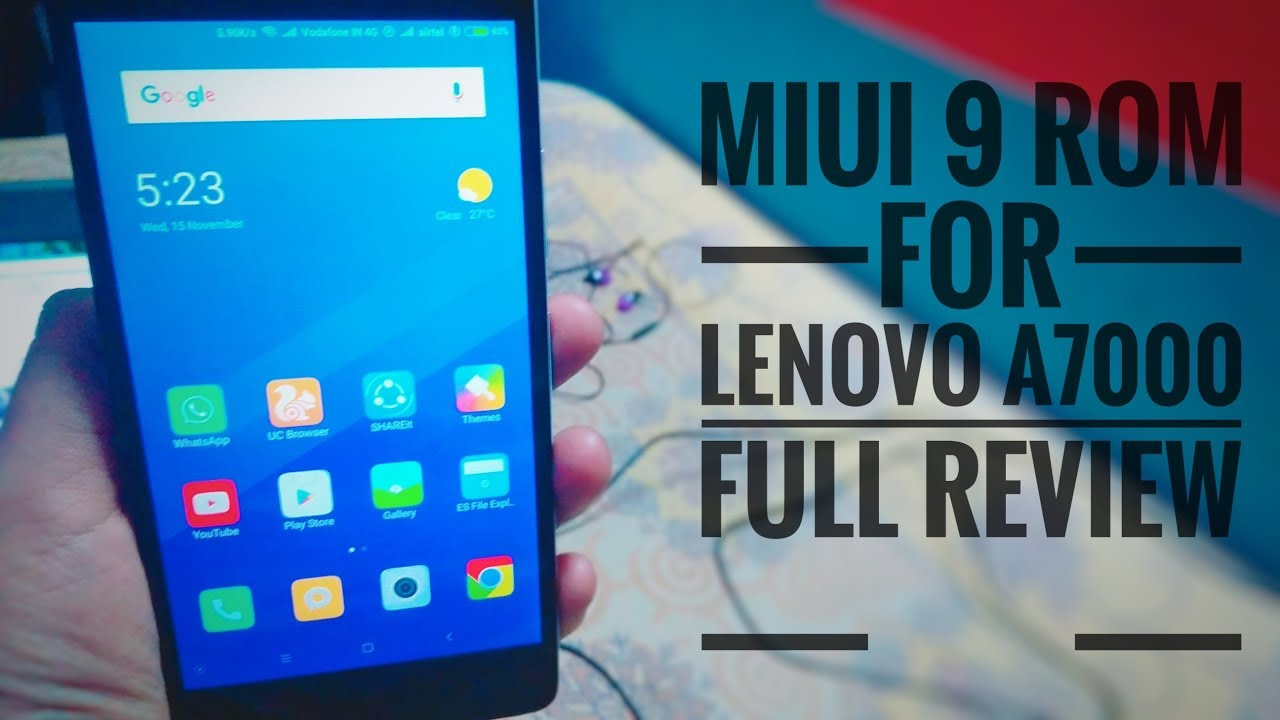 MIUI 9 STABLE ROM FOR Lenovo A7000 || FULL REVIEW by Techno Tech Khan