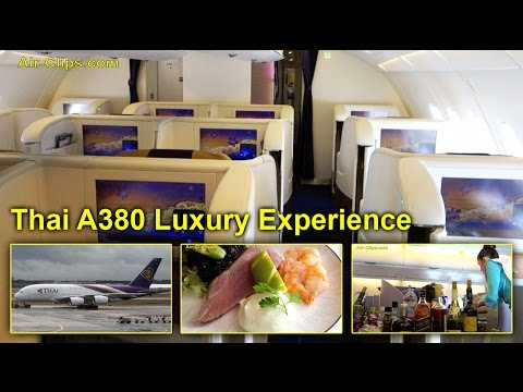 Thai Airways A380 BREATHTAKING Business Class to Bangkok, MUST SEE! [AirClips full flight series]