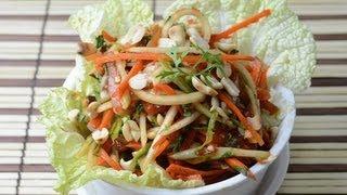 Som Tam Vegetarian - Thai Green Papaya Salad  - By Vahchef @ Vahrehvah.com