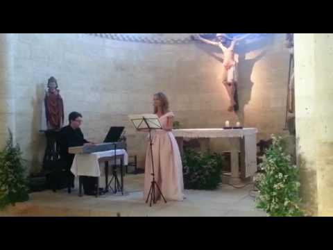 Ave María. Mascagni. Sonia Santoyo soprano Palencia