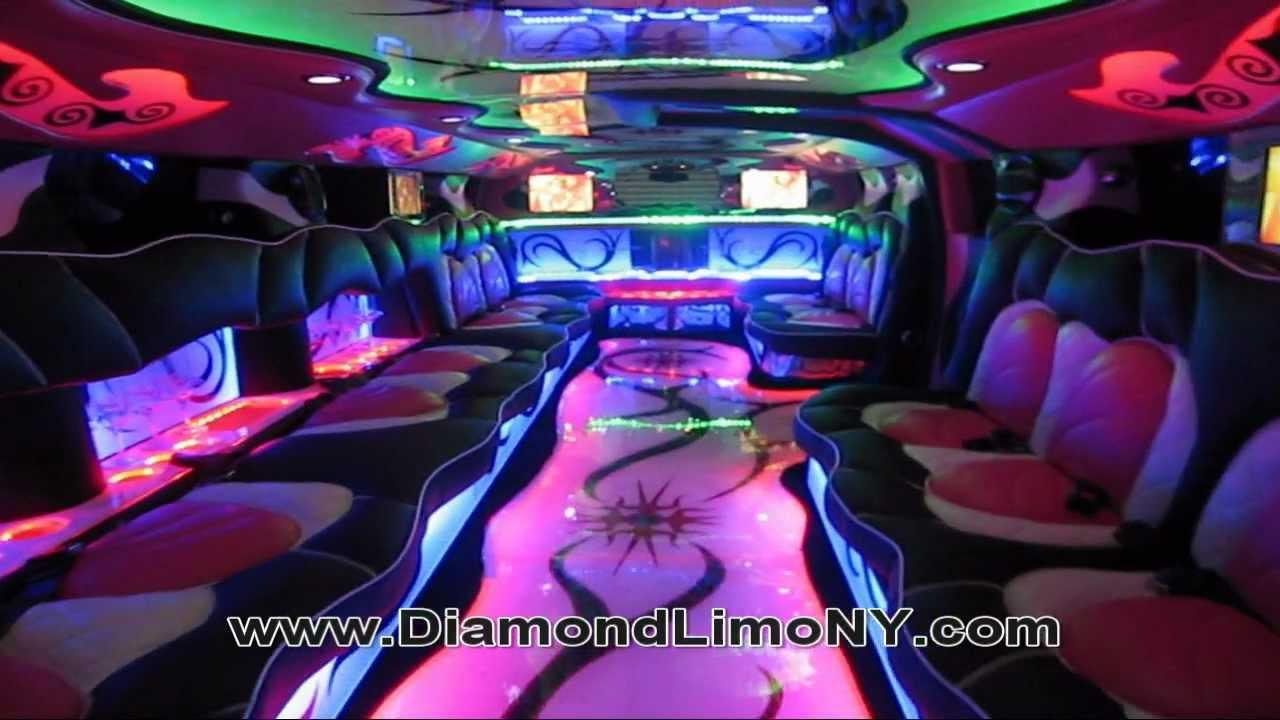 Pink Hummer H2 - Diamond Limo NY - YouTube
