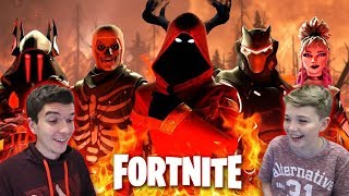 LOOK AT MY SKINS NOW!!!! COMPARING FORTNITE X ACCOUNTS MY BROTHER!!! (SKINS ETC)