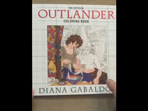 The Official Outlander Coloring Book Flip Through