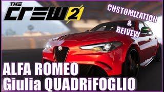 The Crew 2: NEW Alfa Romeo Giulia Quadrifoglio Customization & Review
