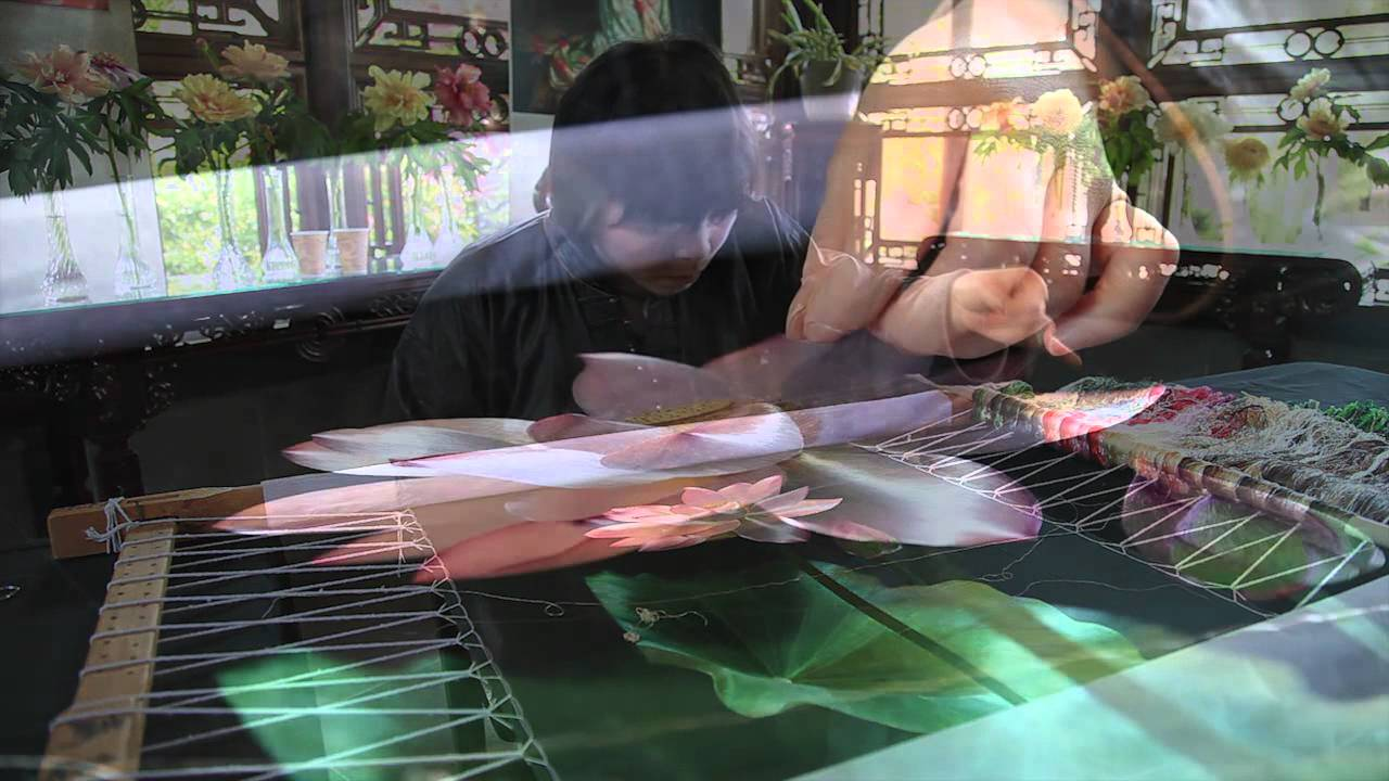Embroidery Art at Lan Su Chinese Garden - YouTube