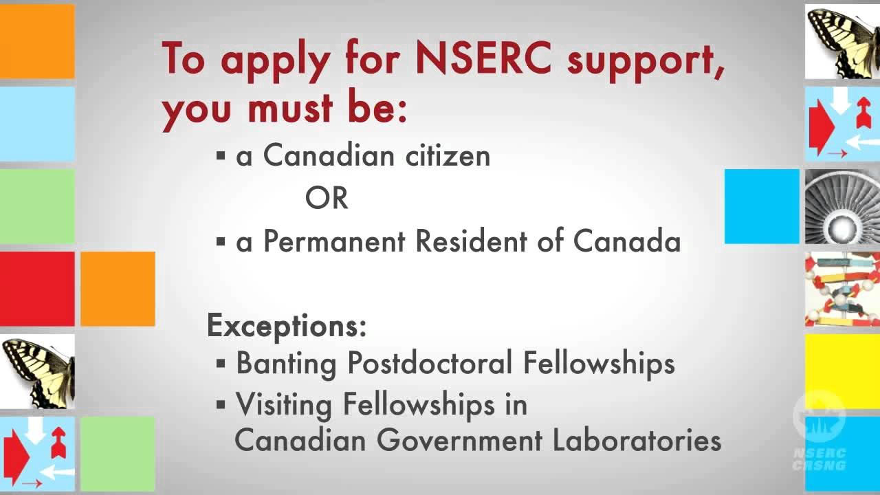 NSERC postdoctoral programs summary - Chapter 1