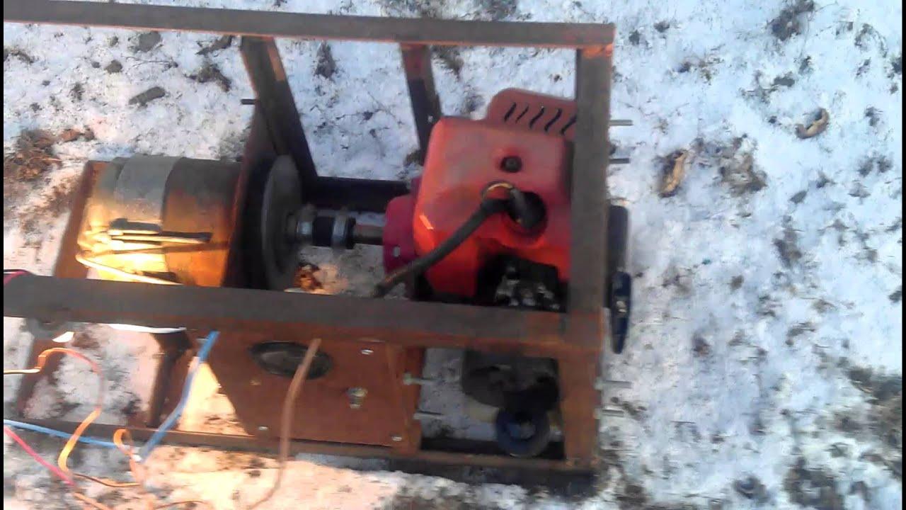 мотоцикл УРАЛ генератор 500w как подцеплять - YouTube