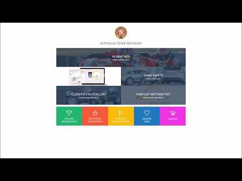 AČRIS - Tutorial licence jezdce automobilový sport